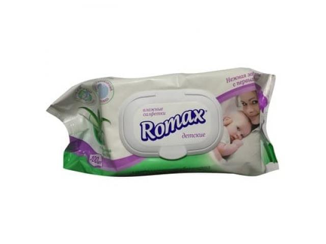 Салфетки влажные Romax детские (72 шт) 0+