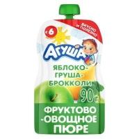 Пюре Агуша яблоко-груша-брокколи 90г с 6 месяцев