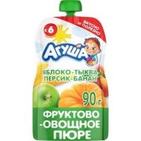 Пюре Агуша Яблоко Тыква Персик Банан 6+