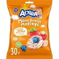 Хлебцы Агуша 30г рисовые с ягодным соком