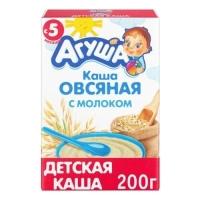 Каша молочная Агуша сухая овсяная, с 5 мес., 200 г