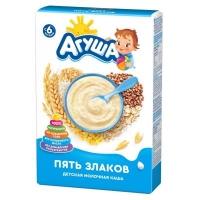 Каша молочная Агуша сухая 5 злаков,6+ 200 г
