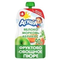 "Пюре яблоко-морковь-абрикос ""Агуша"", с 6 мес., 90"
