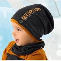 AJS комплект 40-204M шапка одинарный трикотаж + снуд (р.48-50)