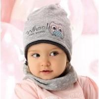 AJS комплект 40-034 шапка одинарная вязка + снуд (р.48-50)