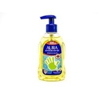 Жидкое мыло Aura  с антибакт эффектом с подорожником