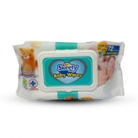 Влажные салфетки детские Sweety 72  шт. с алоэ вера  с пластикой крышкой