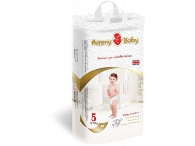 MOMMY BABY подгузники XL 12-18 кг 40 шт