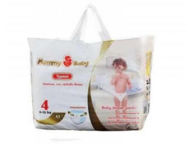 MOMMY BABY подгузники-трусики L(4) 9-15 кг 42 шт