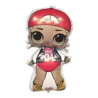 Шар Кукла ЛОЛ (LOL),   Модная подружка наполненный гелием