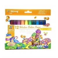 Фломастеры yalong water color pens 12 цветов