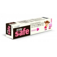 """CJ LION """"Kids Safe"""" Зубная паста детская (от 3-х до 12 лет), 90 гр. клубника"""