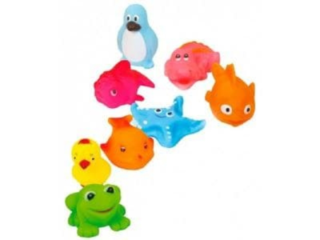 Игрушки-пищалки для ванной 6 шт в упаковке