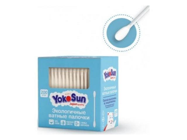 Ватные палочки YokoSun для детей , 200 шт