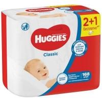 Салфетки Huggies Classic  влажные д/детей 168 шт