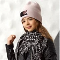 .AJS комплект 42-522 шапка+платок двойная вязка