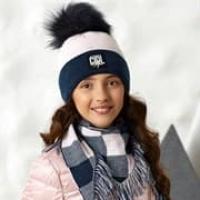 .AJS комплект 42-512 шапка и снуд, двойная вязка (р.52-54)