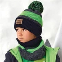 .AJS комплект 42-591 шапка двойная вязка + снуд (р.52-54)