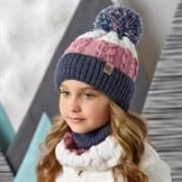 AJS комплект 42-510 шапка со светоотражающими нитями, подклад флис + снуд (р.52-54)