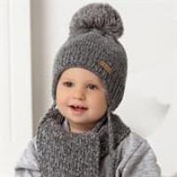 AJS комплект 40-436 шапка двойная вязка+ шарф (р.46-48)