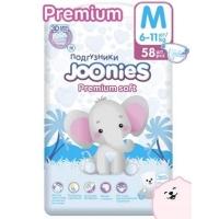 Joonies premium подгузники M 58 (6-11)