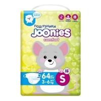 Joonies comfort подгузники S 64 (3-6)