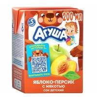 Агуша сок яблоко- персик с мякотью с 5  месяцев 200 мл.