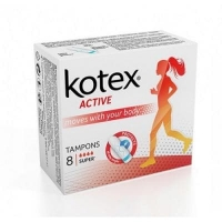Тампоны Kotex Super 8+4 шт